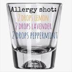 allergy shot glass